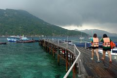 Koh Nang yuan, yuan νησί Nang Στοκ εικόνες με δικαίωμα ελεύθερης χρήσης