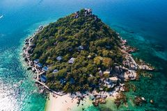 Koh NangYuan off of Koh Tao, Thailand stock images