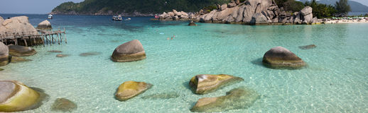 Koh Nangyuan island, Thailand. Beautiful island in a Andaman sea Royalty Free Stock Photography