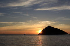 Koh Nangyuan. Sunset at koh Namgyuan thailand Royalty Free Stock Photos