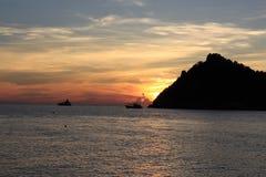 Koh Nangyuan. Sunset at koh Namgyuan thailand Royalty Free Stock Images