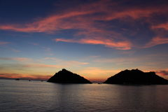 Koh Nangyuan. Sunset at koh Namgyuan thailand Stock Images