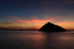 Koh Nangyuan. Sunset at koh Namgyuan thailand Royalty Free Stock Photography