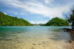 Koh Ngam beach, Koh Ngam island, southern tip of the Koh Chang island, Thailand. royalty free stock image