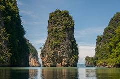 Koh Panak Island på den Phang Nga fjärden Arkivfoto