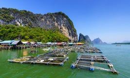 Koh Panyee, χωριό ψαράδων, Phang Nga, Ταϊλάνδη Στοκ φωτογραφία με δικαίωμα ελεύθερης χρήσης