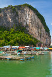 KOH Panyee Fischerdorf in Thailand Stockbilder