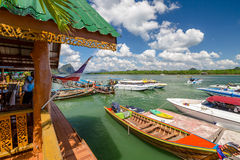 Koh Panyee fisherman village Royalty Free Stock Photos