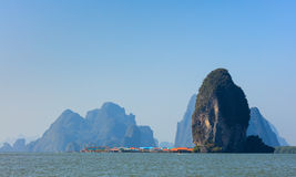 Koh Panyee, Fisherman village, Phang Nga, Thailand Stock Photos