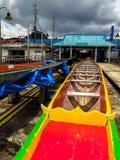 Koh Panyee Floating Village, provincia di Phang Nga, Tailandia Immagine Stock