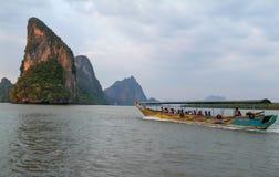 Koh Panyee at Phang Nga Bay, Thailand Royalty Free Stock Images