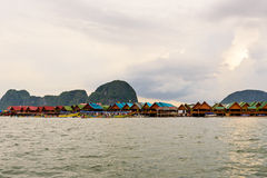 Koh Panyee or Punyi island in the evening Royalty Free Stock Photo
