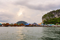 Koh Panyee or Punyi island in the evening Stock Image