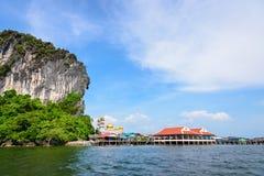 Koh Panyee or Punyi island in summer Stock Photo