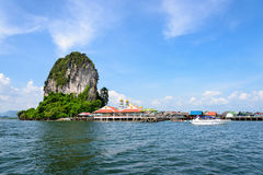 Koh Panyee or Punyi island in summer Stock Photography