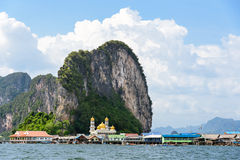 Koh Panyee or Punyi island in summer Stock Images