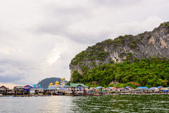 Koh Panyee or Punyi island village is floating Royalty Free Stock Photo