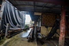 Koh Panyee settlement built on stilts of Phang Nga Bay, Thailand. Canoeing at Koh Hong IslandPhang-Nga, Thailand Thailand 21 MAY 2017 : Koh Panyee settlement Royalty Free Stock Photography