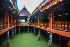 Koh Panyee settlement built on stilts of Phang Nga Bay, Thailand. Canoeing at Koh Hong IslandPhang-Nga, Thailand Thailand 21 MAY 2017 : Koh Panyee settlement Stock Image