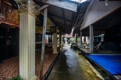 Koh Panyee settlement built on stilts of Phang Nga Bay, Thailand. Canoeing at Koh Hong IslandPhang-Nga, Thailand Thailand 21 MAY 2017 : Koh Panyee settlement Royalty Free Stock Photo