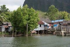 Koh Panyee - tradycyjna rybak wioska, Tajlandia obraz royalty free
