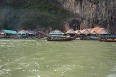 Koh Panyee - tradycyjna rybak wioska, Tajlandia obraz stock