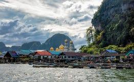 Koh Panyee - tradycyjna rybak wioska, Tajlandia zdjęcia stock