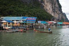 Koh Panyee - tradycyjna rybak wioska, Tajlandia obrazy stock