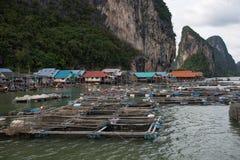 Koh Panyee - tradycyjna rybak wioska, Tajlandia zdjęcie stock