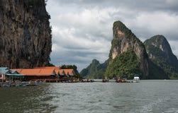 Koh Panyee - tradycyjna rybak wioska, Tajlandia zdjęcia royalty free