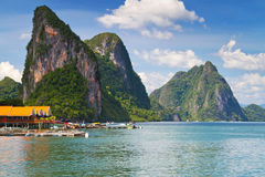 Koh Panyee village in Thailand Stock Image
