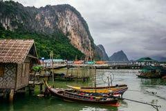 The Koh Panyi Muslim fishing village in the Pang Nga bay, Thailand. Royalty Free Stock Image