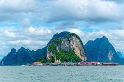Koh Panyi,  muslim fishing village, Thailand Royalty Free Stock Photos