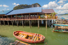 Koh Panyi village Thailand stock photography