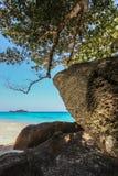 KOH 4, parc national d'îles de Similan, province de Phang Nga, Thaïlande du sud Avec la plage blanche, la belle eau Images stock