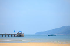 Koh Payam Port. Payam Beach in Andaman Sea Royalty Free Stock Photo