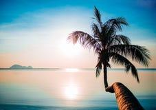Koh Phangan island. Sea sunset in Koh Phangan island, Thailand royalty free stock photography