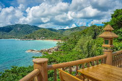 Koh Phangan island. Thailand. Koh Phangan island in the Gulf of Thailand. Seascape view royalty free stock photography