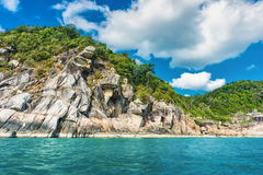 Koh Phangan island. Thailand. Koh Phangan island in the Gulf of Thailand. Seascape view royalty free stock image