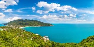 Koh Phangan island, Thailand. Panorama of Koh Phangan island, Thailand in a summer day stock images