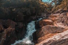 Koh Phangan island waterfall. Waterfall on koh Phangan island in Thailand stock photo