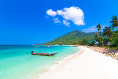 Koh Phangan Phangan tropisk ö, paradis av Thailand. Arkivbild