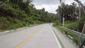 KOH PHANGAN, TAJLANDIA, GRUDZIEŃ 31, 2016: Jechać w pickup na Koh Phangan zbiory wideo