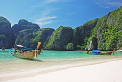 Koh Phi Phi beach. Tropical beach on Koh Phi Phi island, Thailand Royalty Free Stock Images