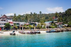 Koh Phi Phi Don, Thailand, February 25, 2017: Harbour of the Phi Stock Photo