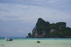 Koh phi phi longtail boat thailand Stock Image