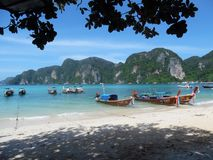 Koh Phi Phi, Tailândia, nenhum filtro Imagem de Stock