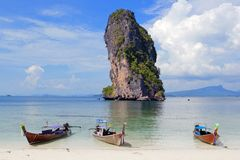 Koh Poda Beach Krabi, Southern Thailand Royalty Free Stock Photos