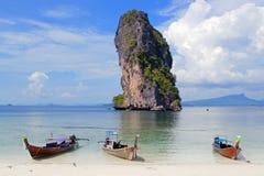 Koh Poda Beach Krabi, Tailândia do sul Fotos de Stock Royalty Free