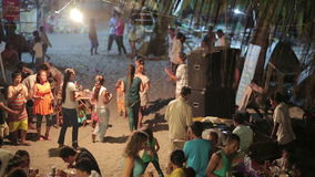 KOH RONG,CAMBODIA - MARCH 2014: local people celebration stock video footage